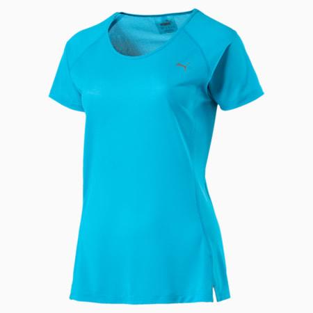 Core-Run Short Sleeve Women's Training Top, AQUARIUS, small-IND