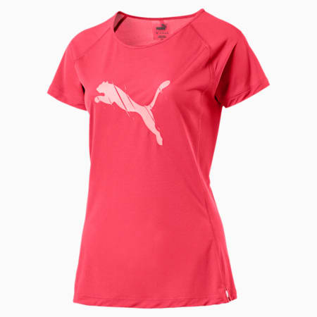 Core-Run Short Sleeve Women's T-Shirt, Paradise Pink, small-IND