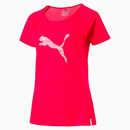Core-Run Short Sleeve Women's T-Shirt, Bright Plasma, small-IND