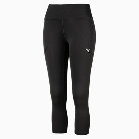 Speed 3/4 Women's Training Tights, Dark Gray Heather-Puma Black, small-IND
