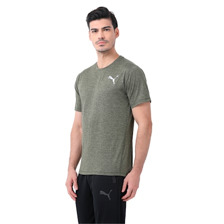 ESSENTIAL PURETECH HEATHER T, Olive Night Heather, small-IND