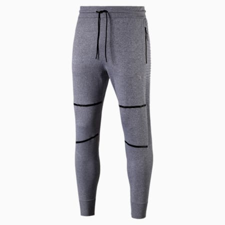 Pantalones EvoKnit Energy Trackster para hombre, Medium Gray Heather, small