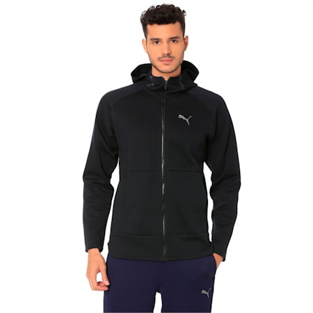 BND Tech Protect Zip-Up Hooded Men's Jacket, Puma Black, small-IND
