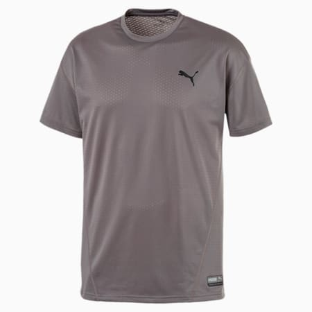 A.C.E. Short Sleeve Men's Training Top, Charcoal Gray, small-SEA