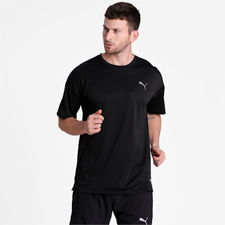 A.C.E. Short Sleeve Men's dryCELL Training Top, Puma Black, small-IND