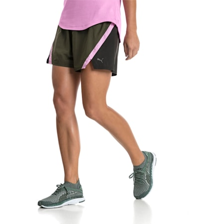Blast 3'' Women's Training Shorts, Forest Night, small-IND