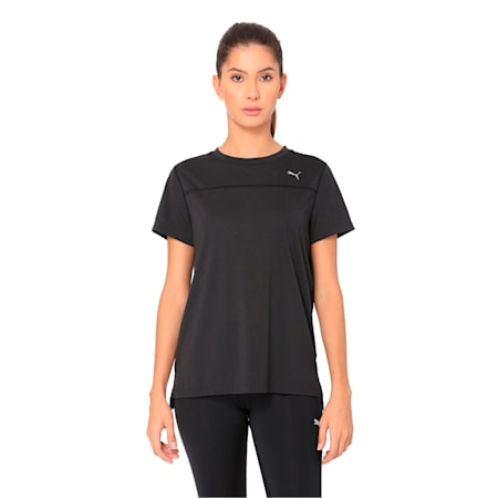 Women's Short Sleeve dryCELL Tee, Puma Black, small-IND