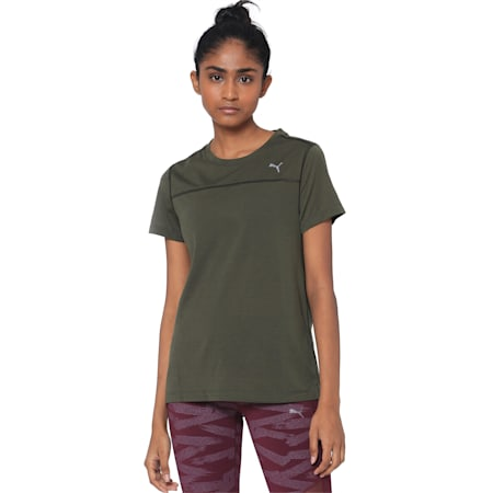 Women's Short Sleeve dryCELL Tee, Forest Night, small-IND