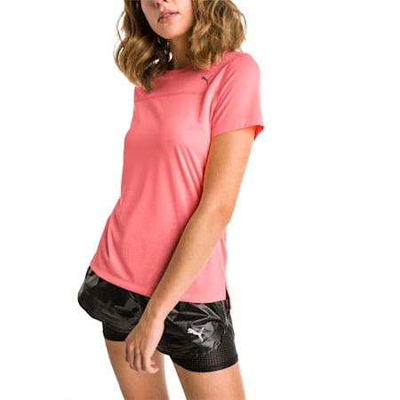 Women's Short Sleeve dryCELL Tee, Bright Peach, small-IND