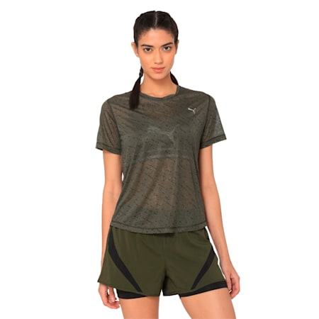 Graphic Women's Training Top, forest night-puma black, small-IND