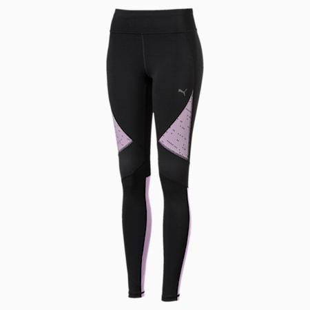 IGNITE Graphic Women's Running Tights, Puma Black-Orchid, small