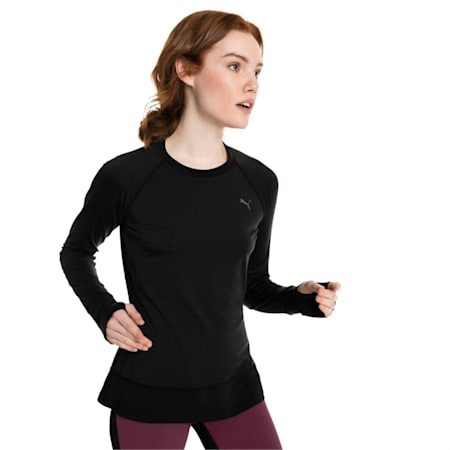 Winter Long Sleeve Women's Training Top, Puma Black, small-IND