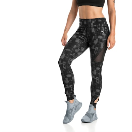 Training Women's Explosive 7/8 Graphic Tights, Puma Black-iron gate, small-IND