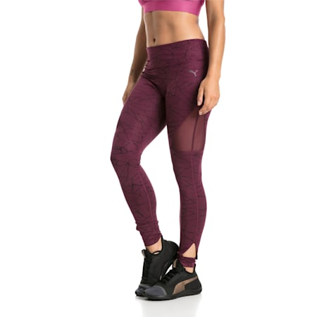 Training Women's Explosive 7/8 Graphic Tights, Fig, small-IND