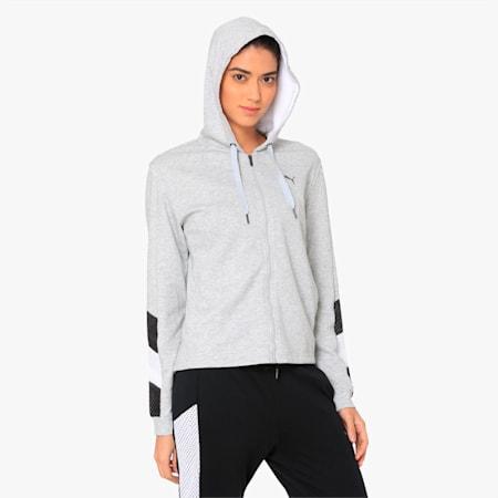 Training Women's A.C.E. Sweat Jacket, Light Gray Heather, small-IND