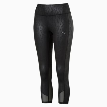 Always On Graphic 3/4 Women's Tights, Puma Black-Emboss, small