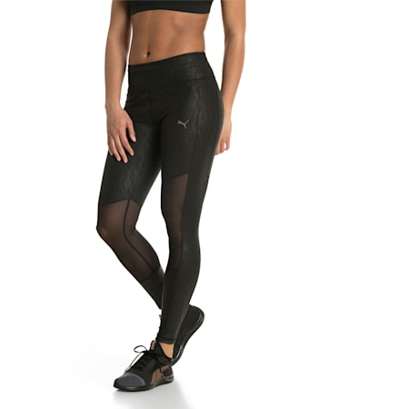 Always On Graphic 7/8 Women's Tights, Puma Black-Emboss, small
