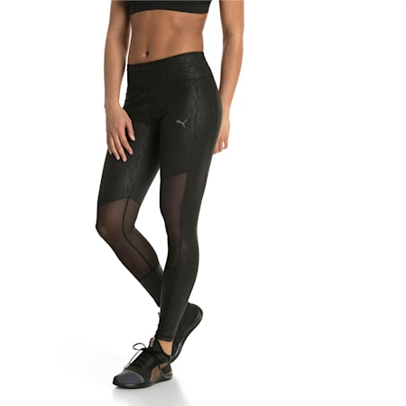 Always On Graphic 7/8 Women's Tights, Puma Black-Emboss, small-IND