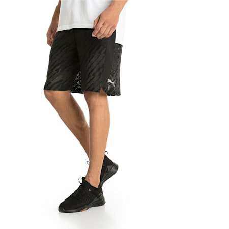 "VENT 10"" Men's Knit Shorts, Puma Black-Iron Gate, small-IND"