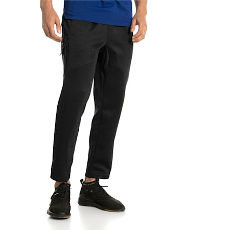 BND Tech Trackster Men's Sweatpants, Puma Black Heather, small-IND