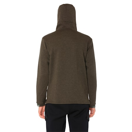 Energy Zip-Up Hooded Men's Running Jacket, Forest Night Heather, small-IND
