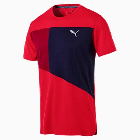 IGNITE Short Sleeve Men's Running Tee, Ribbon Red-Peacoat, small-IND