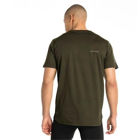 IGNITE Graphic Men's Running Tee, Forest Night-Puma BlackPrint, small-IND