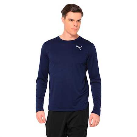 Ignite Long Sleeve Men's Training Top, Peacoat, small-IND