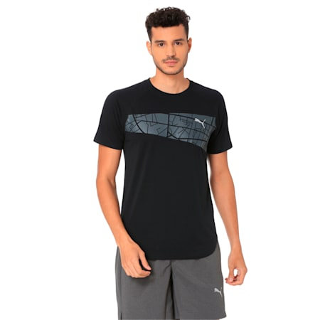 Graphic Triblend Men's Tee, Puma Black, small-IND