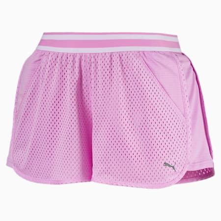 A.C.E. Mesh Women's Shorts, Orchid, small