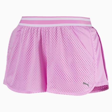 Shorts da donna in tessuto mesh A.C.E, Orchid, small