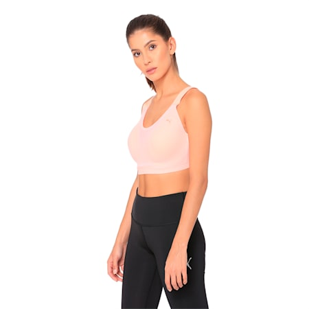 Control High Impact Women's Bra Top, Bright Peach, small-IND