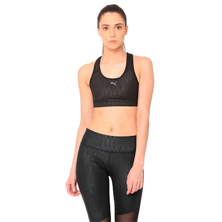 4Keeps Graphic Women's Bra, puma black-embossed, small-IND