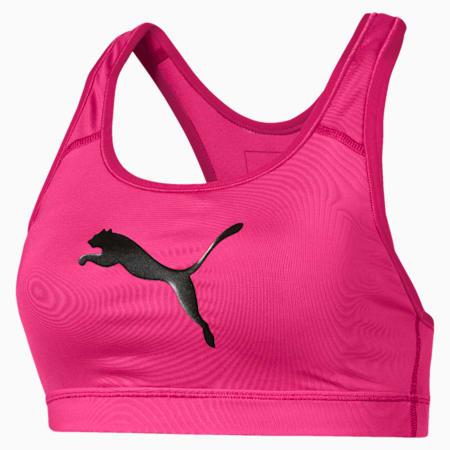 Training Women's 4Keeps Mid Impact Bra Top, Fuchsia Purple-CAT, small-SEA