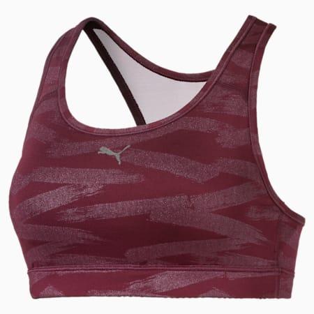 4Keeps Graphic Women's Sports Bra, fig-magenta haze, small-IND