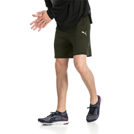 "Ignite 7"" Men's Running Shorts, Forest Night, small-IND"