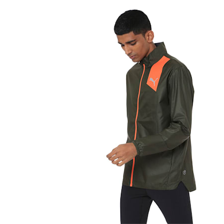 Running Men's IGNITE Jacket, Forest Night, small-IND
