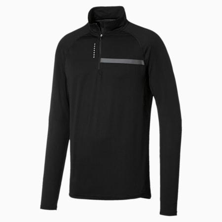 Running Men's IGNITE Half Zip Long Sleeve, Puma Black, small