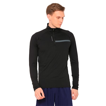 Ignite Half Zip Men's Top, Puma Black, small-IND