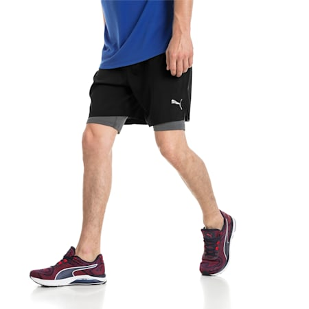 Running Men's IGNITE 2-in-1 Shorts, Puma Black, small