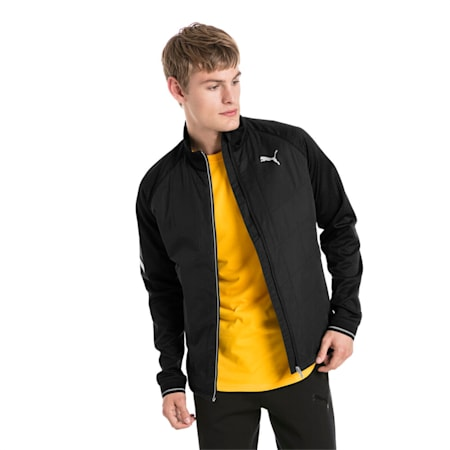 IGNITE Padded Zip-Up Men's Running Jacket, Puma Black Heather, small-IND