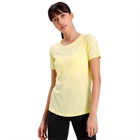 Training dryCELL Women's A.C.E. Raglan Slim T-shirt, Sunny Lime, small-IND