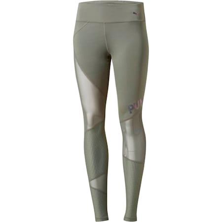 Punch Long Women's Leggings, Castor Gray, small
