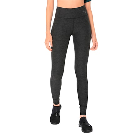 Soft Touch Women's Training Leggings, Dark Gray Heather, small-IND