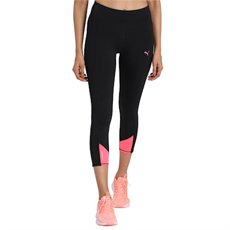 Always On Solid 3/4 Women's dryCELL Tights, Puma Black-Ignite Pink, small-IND
