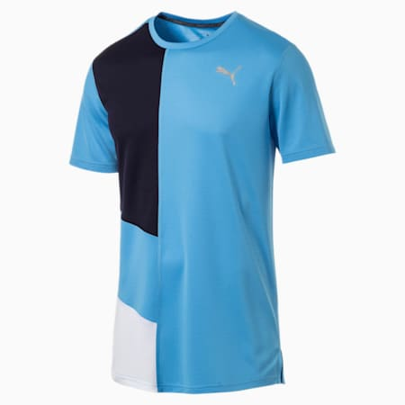 IGNITE dryCELL Men's Running T-Shirt, Bonnie Blue-Peacoat, small-IND