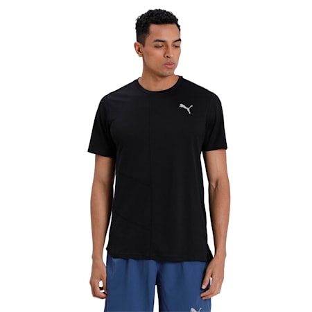 IGNITE dryCELL Men's Running Performance Fit T-shirt, Puma Black, small-IND