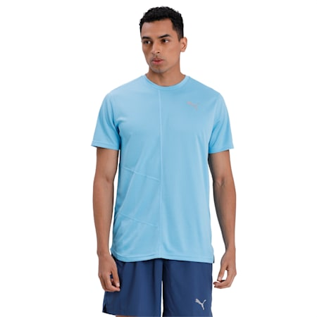 IGNITE dryCELL Men's Running T-Shirt, Ethereal Blue, small-IND