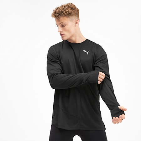 IGNITE Long Sleeve Men's Tee, Puma Black, small