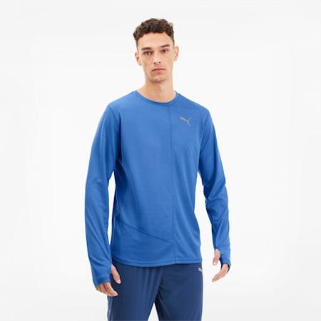 IGNITE Herren Langarm-Shirt, Palace Blue, small